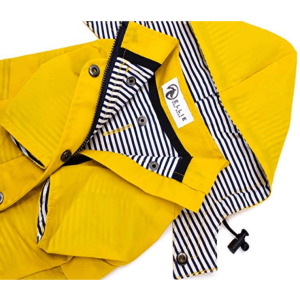 Ellie Dog Wear Yellow Zip Up Dog Raincoat with Reflective Buttons