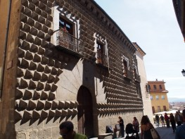 A house with an interesting wall in Segovia