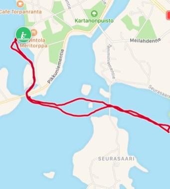 Reitti 4,1 km