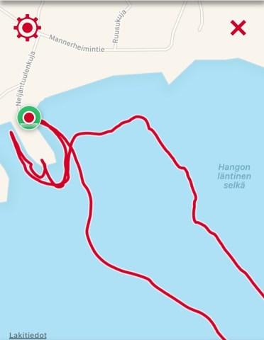 Reitti, 3,14 km