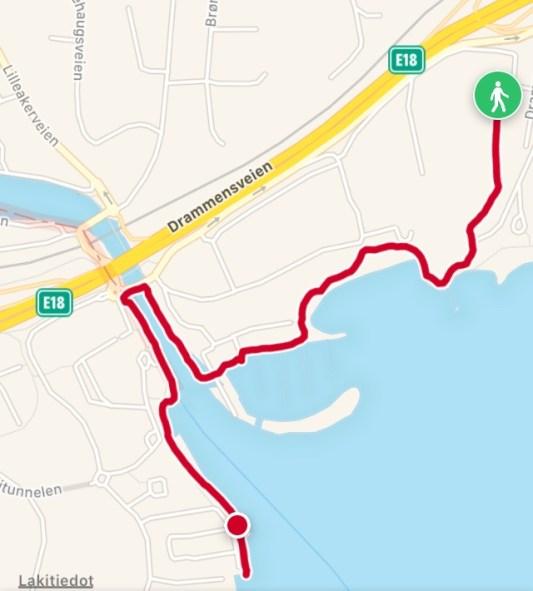 Walking route 1,53 km