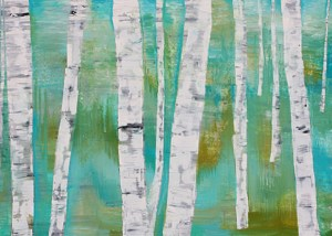 Birches I Oil on canvas 2014