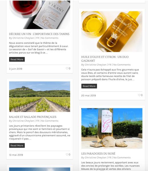 Blog Château Virant
