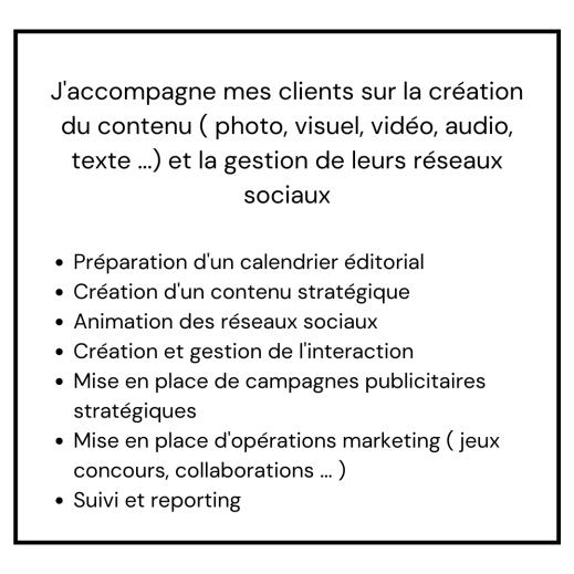 Création de contenu & Social Media Management