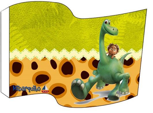 Topper adorno banderín de Un Gran Dinosaurio Imprimibles para cumpleaños