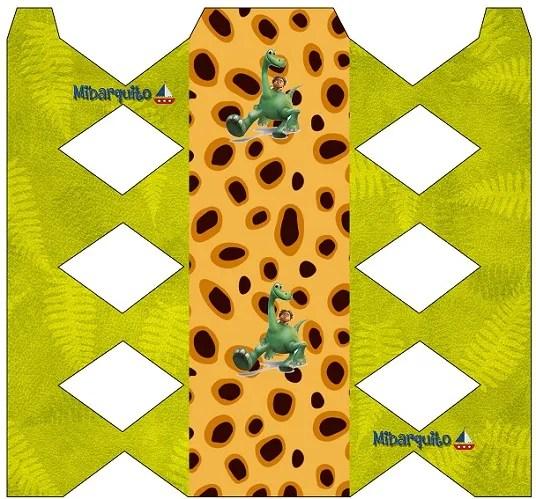 Un Gran Dinosaurio Imprimibles gratis Cajita formato caramelo