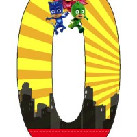 PJ Masks Números para descargar gratis