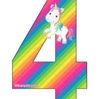 Números de Unicornios para descargar gratis