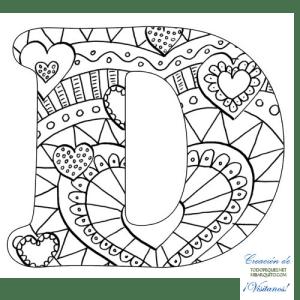 Letra d alfabetos mandalas