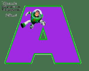 Buzz Lightyear Alphabet Letters