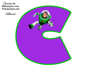 Buzz Lightyear Alphabet Letters