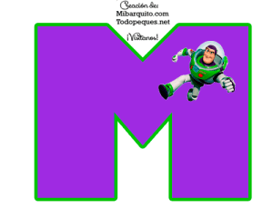 Moldes letras abecedario Toy Story