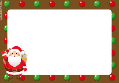 Tarjetitas regalos de navidad para imprimir