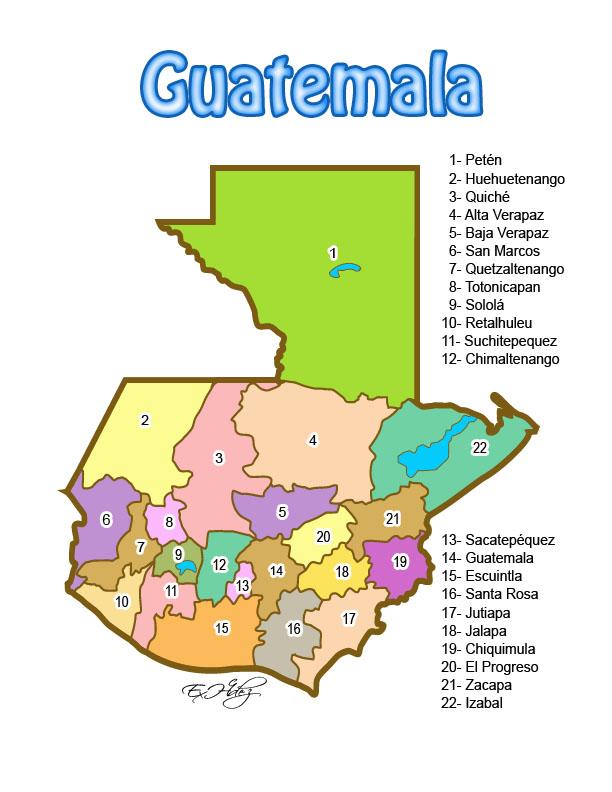 Mapa de Guatemala a color | Miblogchapin's Blog MAPA DE GUATEMALA
