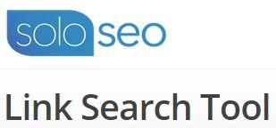 SoloSEO Link Search Tool