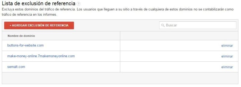 Google Analytics - Agregando Exclusión de Referencia