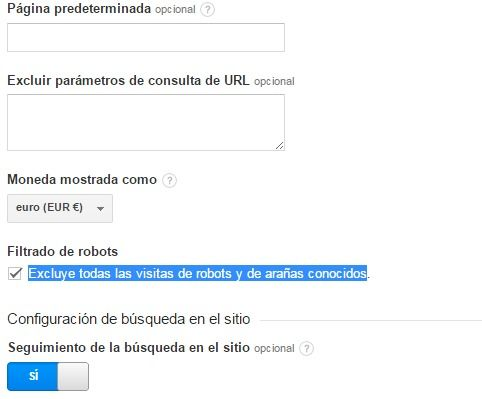 Google Analytics - Excluir visitas de robots y arañas
