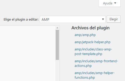 Archivos del plugin AMP