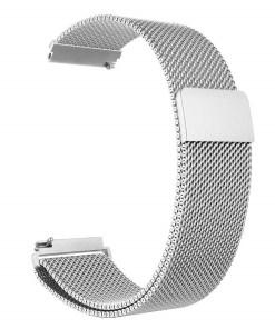 srebrn kovinski pašček xiaomi Bip GTS GTR Pace Stratos