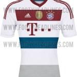 Nueva Camiseta Visitante FC Bayern 2014/2015