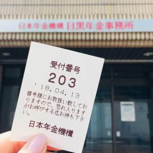 年金事務所 受付カード