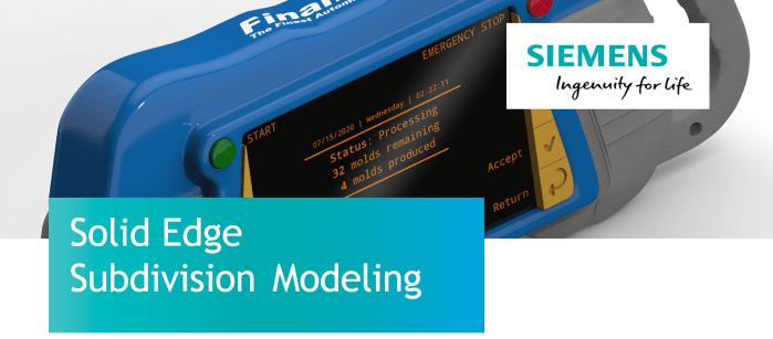 phần mềm Solid Edge Subdivision Modeling