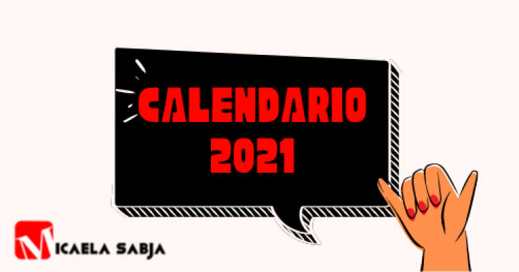 Calendario 2021 marketing