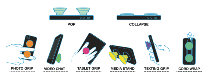 PopSockets use cases