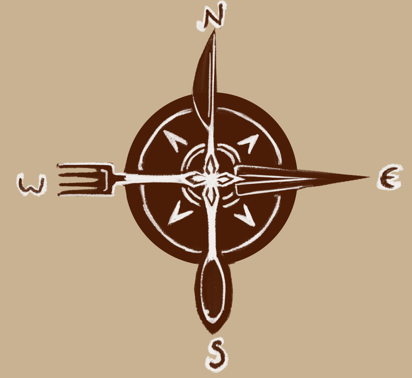 Compass Rose Illustrated Maps