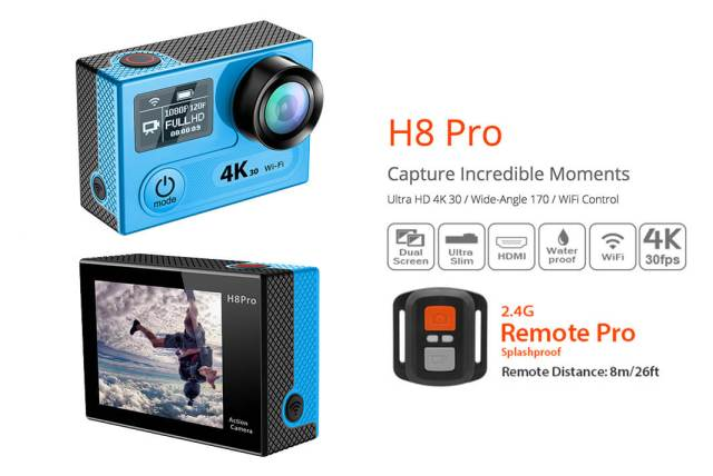 mejores cámaras deportivas 4k eken h8 pro