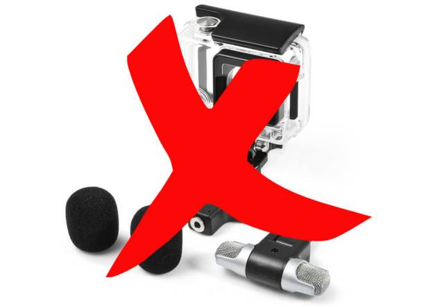 listado cámaras deportivas micrófonos externos