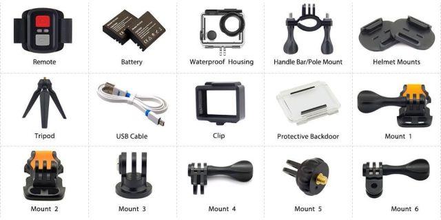 accesorios eken h5s