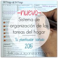 Sistema de Organización de las Tareas del Hogar - Planificador 2015!