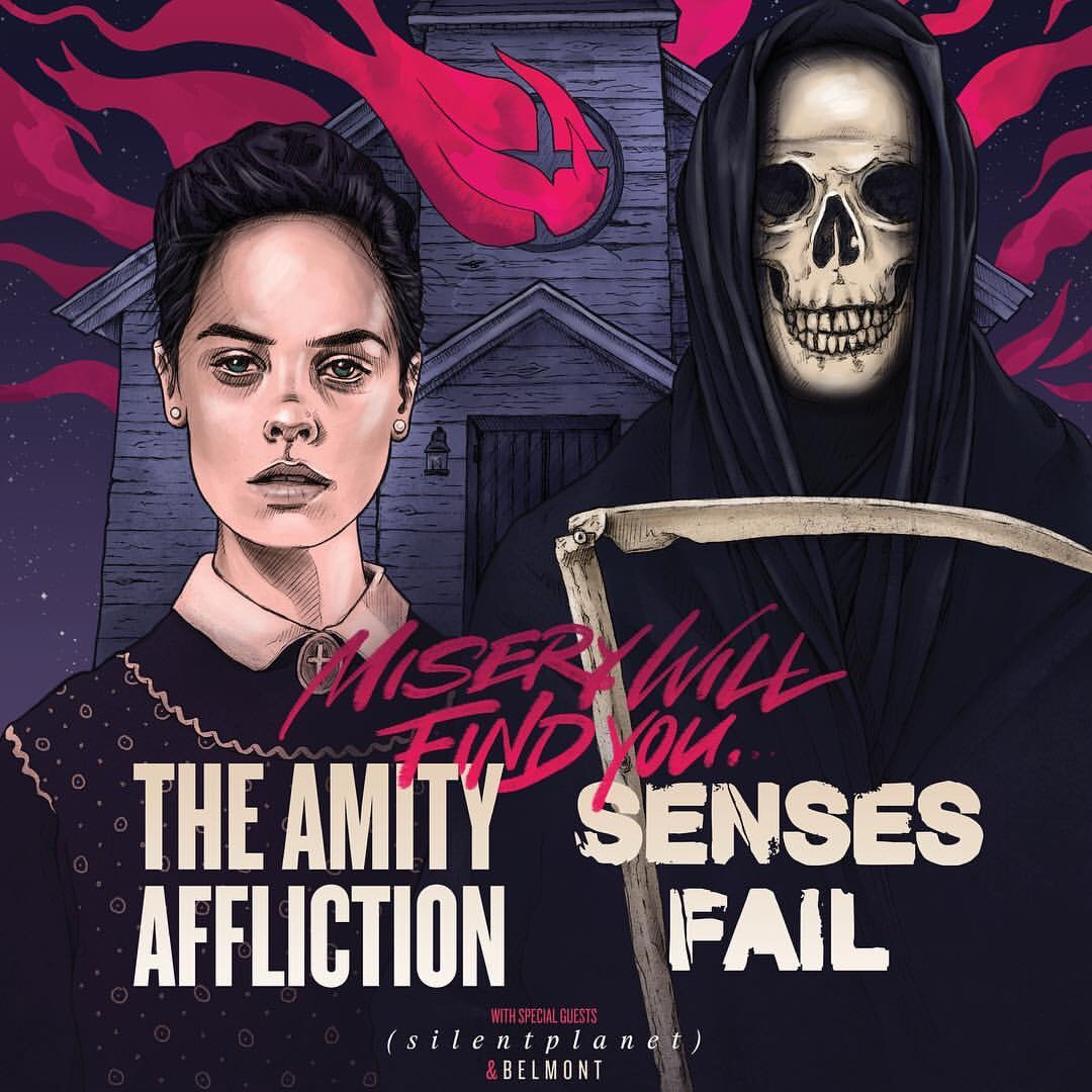 Silent Planet joins Senses Fail & The Amity Affliction on the Misery Will Find You Tour