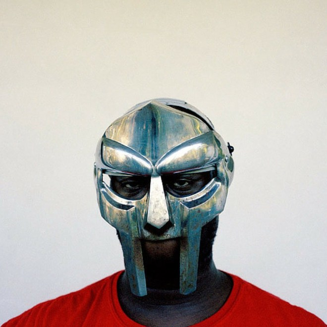 A photo of MF DOOM, used on the cover of Madvillainy