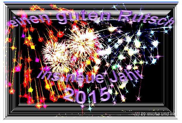 guten Rutsch ins Jahr 2015