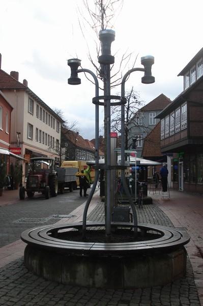 runde Bank in Soltau