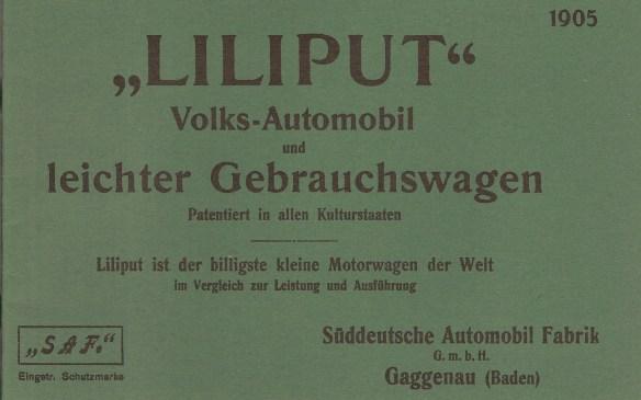 Liliput-Prospekt von 1905