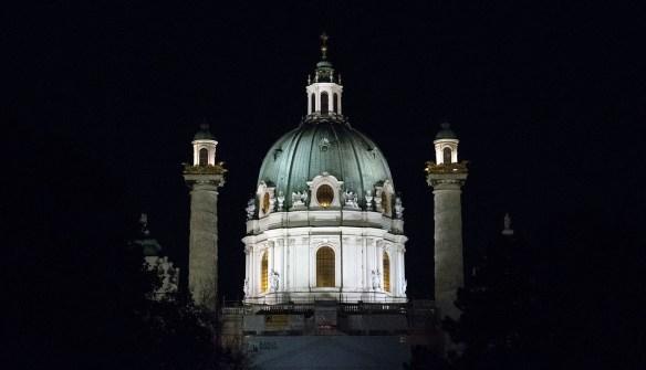 Karlskirche by night, Vienna