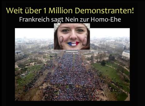 Homo-Ehe Nein in Frankrecih