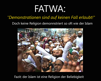 Fatwa Demonstrationsverbot