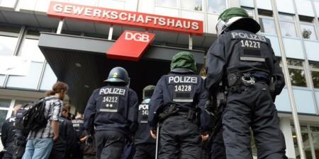 Räumung der von Flüchtlingen besetzten Berliner DGB-Zentrale