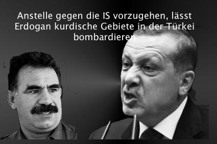 Tuerken bombardieren Kurden
