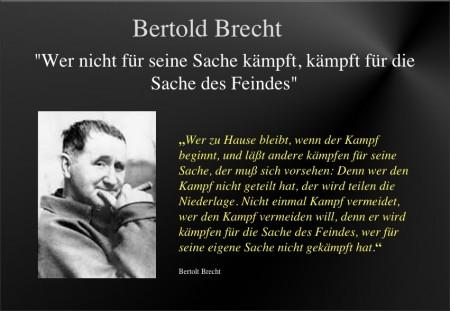 Brecht zum Kampf