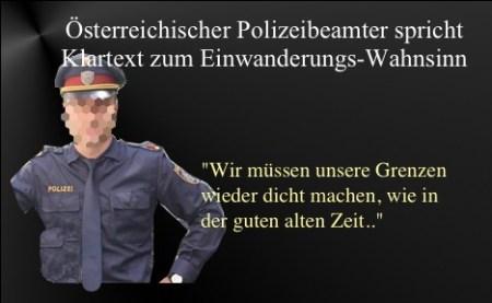 Polizist spricht Klartext
