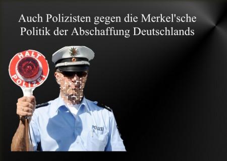 Polizisten gegen Merkel