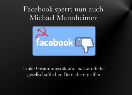 Facebook sperrt MM
