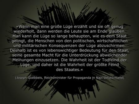 Goebbels Unwahrheit