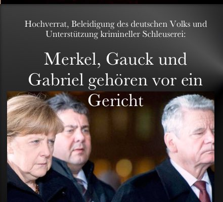 Merkel+Co gehoeren angeklagt