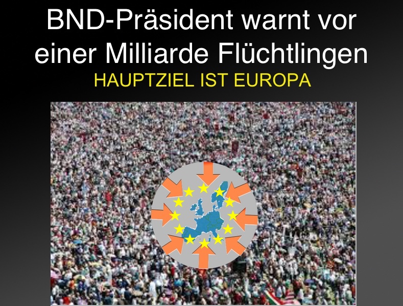 BND-Präsident warnt vor einer Milliarde Flüchtlingen